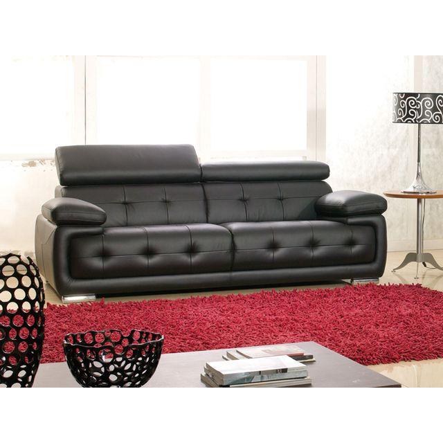 la maison du canap canap cuir 3 places san marco. Black Bedroom Furniture Sets. Home Design Ideas