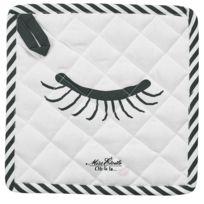Miss Etoile - 2 maniques en coton Yeux fermé - Noir et Blanc