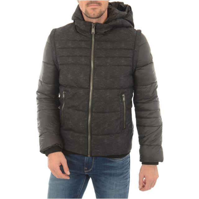 1abc517f858b Guess - Doudoune Transformable M74l39 - Jeans - pas cher Achat   Vente Doudoune  homme - RueDuCommerce