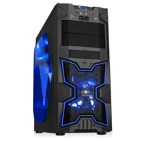 SPIRIT OF GAMER - Boitier PC ATX X-FIGHTERS 41 Blue Mana