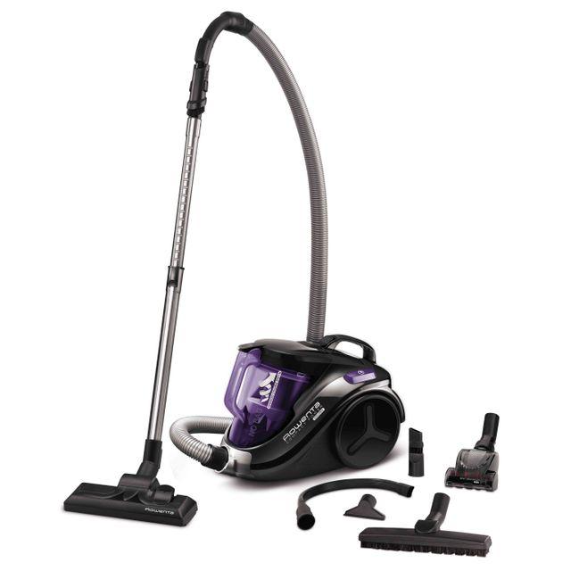 rowenta aspirateur sans sac ro3799ea noir violet achat aspirateur sans sac silencieux. Black Bedroom Furniture Sets. Home Design Ideas