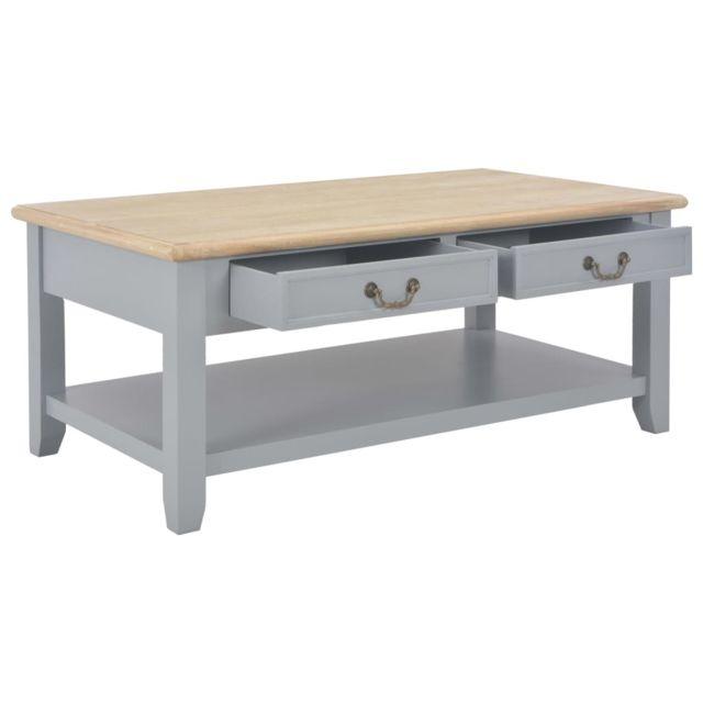 Icaverne - Tables basses gamme Table basse Gris 100 x 55 x 40 cm Bois