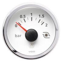 Vdo - Manometre pression Turbo Viewline - fond blanc - Diametre 52mm
