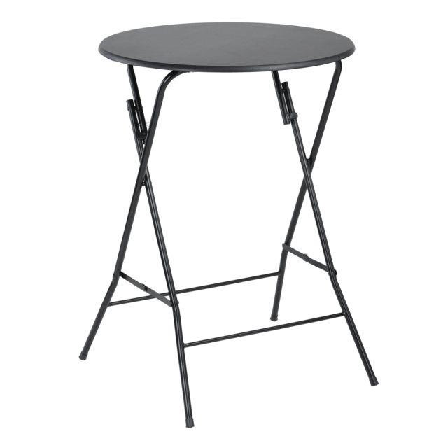 RUE DU COMMERCE - Table haute pliante + housse - FOLDY - pas ...