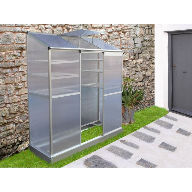 Habitat et jardin mini serre de jardin ou balcon polycarbonate capucine pas cher - Serre de jardin carrefour ...