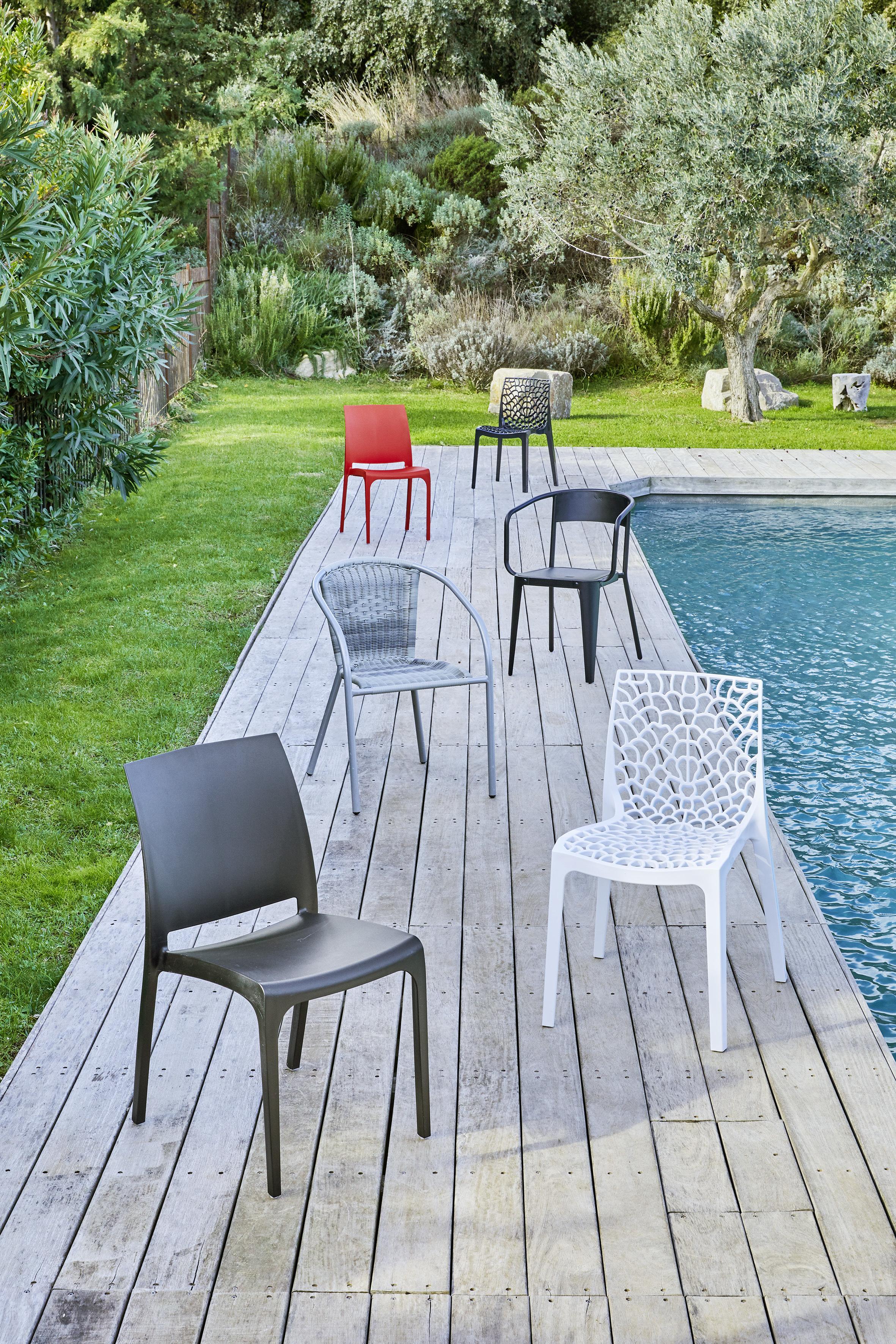 rue du commerce chaise de jardin roma anthracite pas. Black Bedroom Furniture Sets. Home Design Ideas