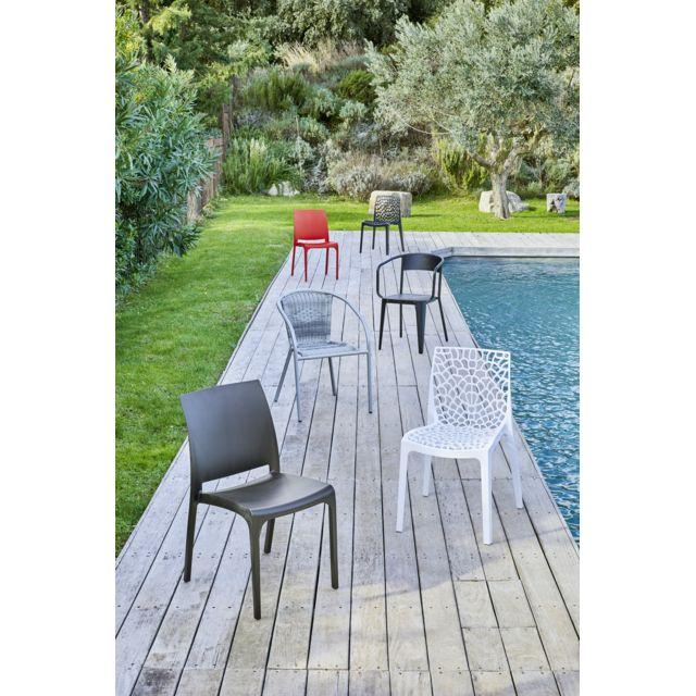 RUE DU COMMERCE - Chaise de jardin Volga - Anthracite - pas ...