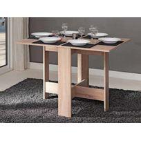 Marque Generique - Table à manger pliante en bois 3 positions Astucea - Chêne