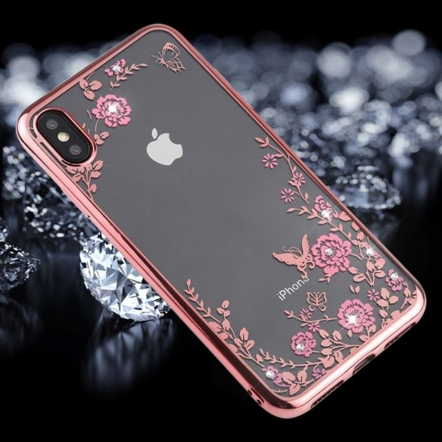 iphone xs coque fleurs