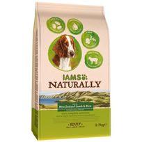 Iams - Naturally Croquettes Agneau Nouvelle-Zélande & Riz - Toutes races - 2.7 kg - Pour chien adulte
