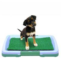 Malatec - Toilettes litière pour chien apprentissage chiot Blanc