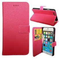 coque portefeuille iphone 8 rose