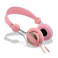 Cabling - Casque microphone rose pour Iphone 4/5/6