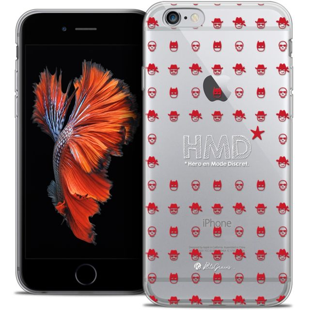 coque iphone 6 6s extra fine petits grains hmd hero en mode discret