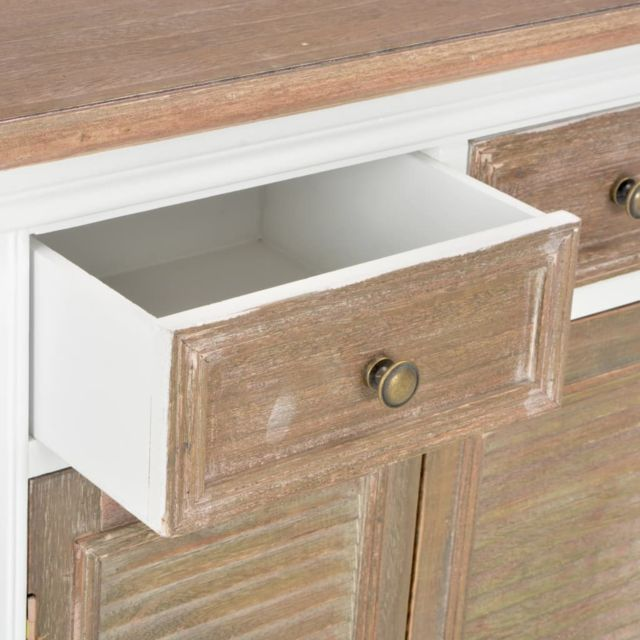Icaverne - Buffets & bahuts edition Buffet Blanc 60 x 30 x 80 cm Bois massif