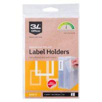 3L - Porte-étiquettes adhésif 55 x 102 mm - Boîte de 60