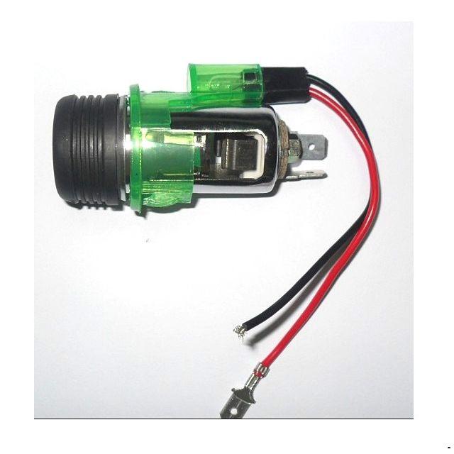 12V//24V USB Double puissance Voiture Prise Allume Cigare+1M Câble Bague 15A