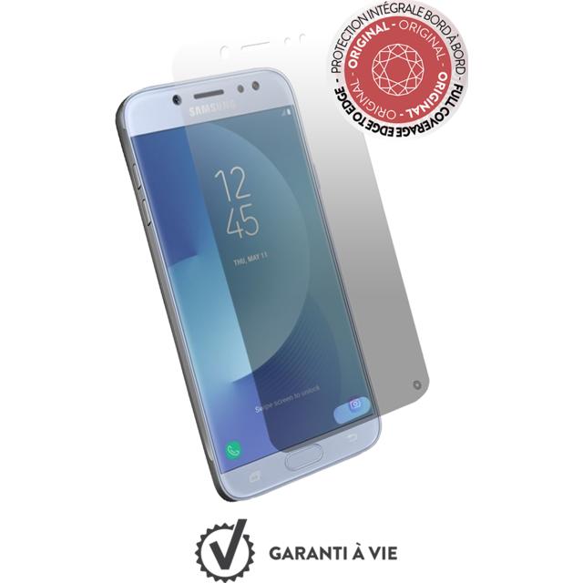 FORCE GLASS Verre trempe Galaxy J3 2017 - Transparent Protège-écran en verre trempé Galaxy J3 2017 - Optimal pour le 3D touch - 0,33mm - Anti Trace de doigt