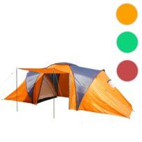 Mendler - Tente de camping Loksa, 4 personnes, bivouac / igloo, tente pour festival ~ orange