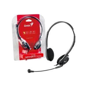 Genius - Micro-Casque Hs-200C - Filaire - Stereo - Gris