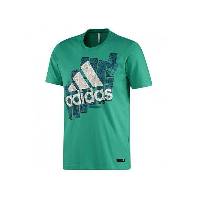 Adidas originals Tee shirt Super Smash Vert Homme Adidas