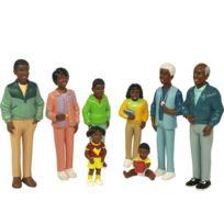 """Miniland - set de 8 personnages, """"la famille africaine"""