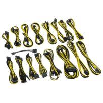 CABLEMOD - Kit de câbles gainés C-Series AXi, HXi & RM – NOIR / JAUNE