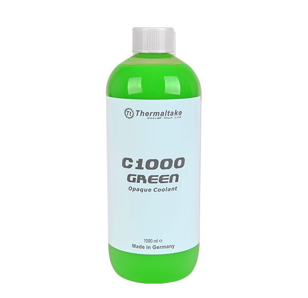 liquide de refroidissement 1000ml c1000 vert opaque thermaltake dans le rayon liquide. Black Bedroom Furniture Sets. Home Design Ideas