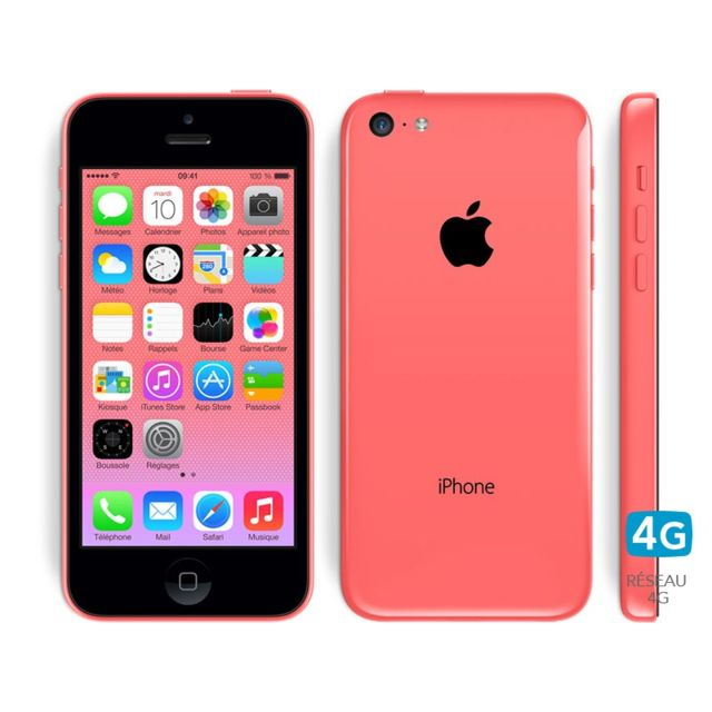apple iphone 5c 16 go rose pas cher achat vente smartphone classique ios rueducommerce. Black Bedroom Furniture Sets. Home Design Ideas