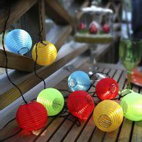Best Season - Rice Ball - Guirlande d'extérieur Led 10 lampions Multicolore 14,5m - Guirlande et objet lumineux designé par