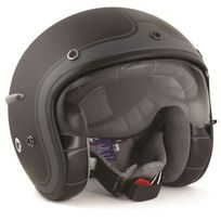 Harisson - casque jet moto scooter fibre noir-anthracite mat - Ca112 Xl