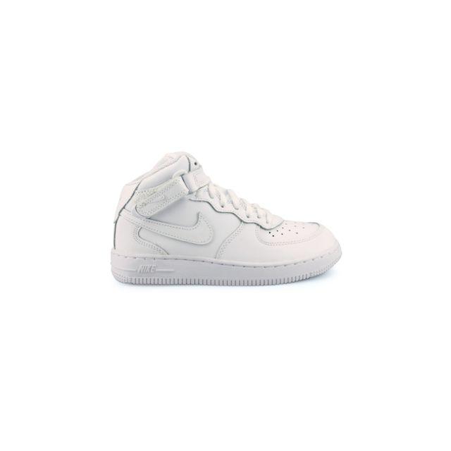 61f15a9ccda2e Nike - Air Force 1 Mid Enfant Blanc 314196-113 - pas cher Achat ...
