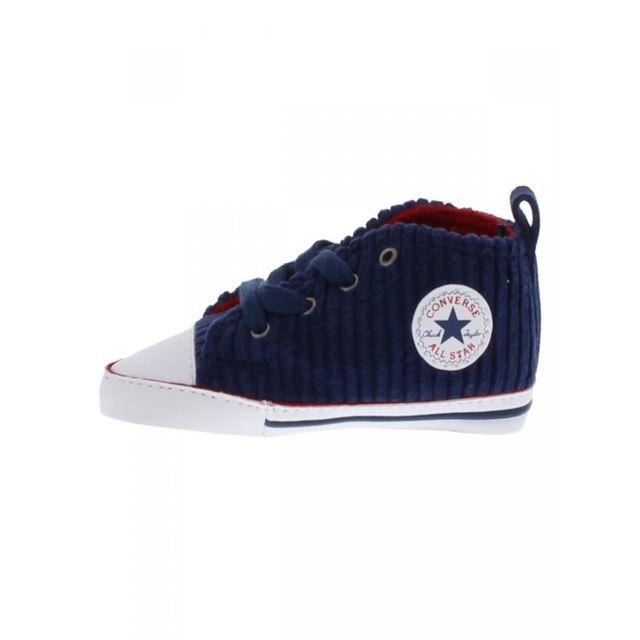 5210121d738 Converse - Baskets all star en velours bleu marine bébé garçon - pas ...