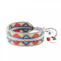Mishky - Bracelet Perle Rouge & Bleu