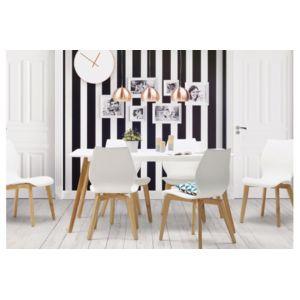 Declikdeco chaise blanche pieds bois pas cher achat for Chaise blanche pied bois pas cher