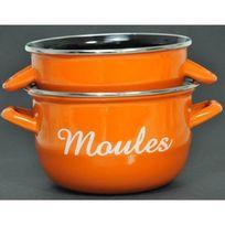 Aucune - Marmite a moules avec inscription 1 personne 18cm orange Tous feux dont induction