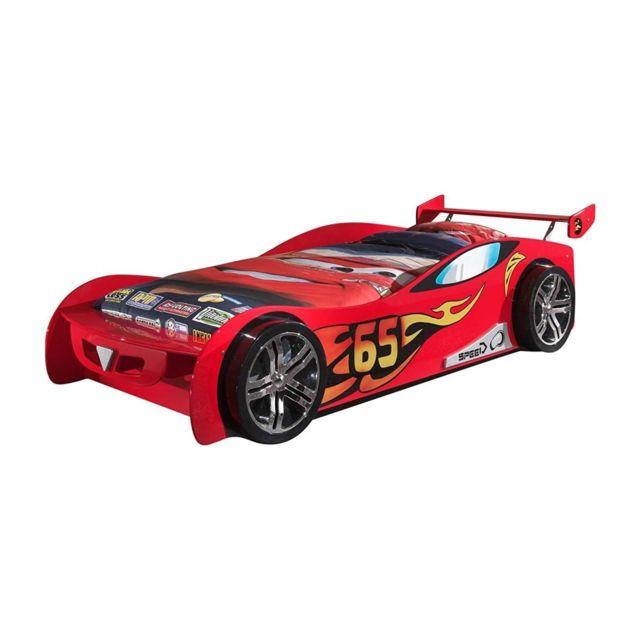 Vipack Funbeds Lit voiture Le Mans rouge