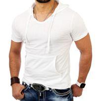 Tazzio - Tee shirt à capuche T-shirt Tz5053 blanc