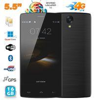 Yonis - Smartphone 4G Android 5.1 Quad Core dual Sim 5.5 pouces 16 Go noir