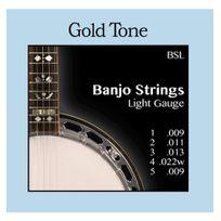 Goldtone - Cordes Banjo 5 cordes - Light - Gold Tone Bsl