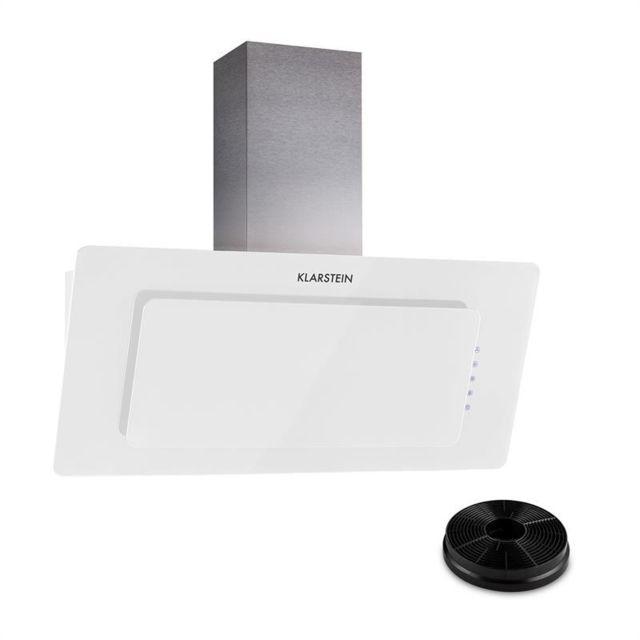 KLARSTEIN Lorea 90 hotte aspirante filtres à charbon actif inclus blanc