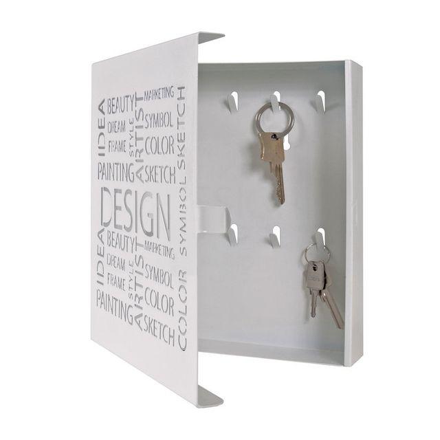 Marque Generique - Boite à clés en acier ajouré Design 22x5x24cm Pop - Blanc