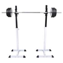 Vidaxl - Support barres haltères longs musculation
