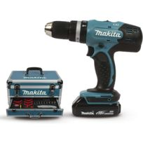 Makita - DHP453RYX3 Perceuse visseuse à percussion 18 V + 2 batteries + coffret