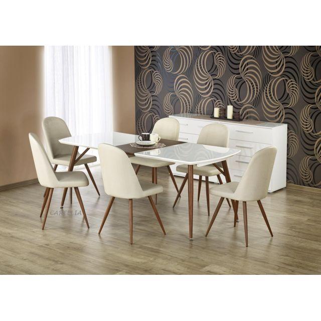 Carellia Table à manger extensible 150÷190 cm x 90 cm x 75 cm
