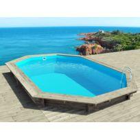 Habitat et Jardin - Piscine bois Cancun - 6.53 x 4.41 x 1.45 m