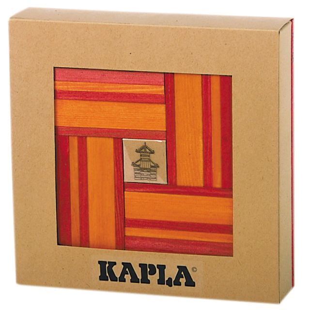 Kapla 40 planchettes - Rouge / orange