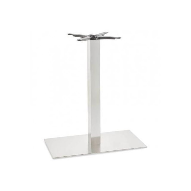 TECHNEB Pied de table base rectangulaire POULI en métal brossé 40cmX75cmX90cm