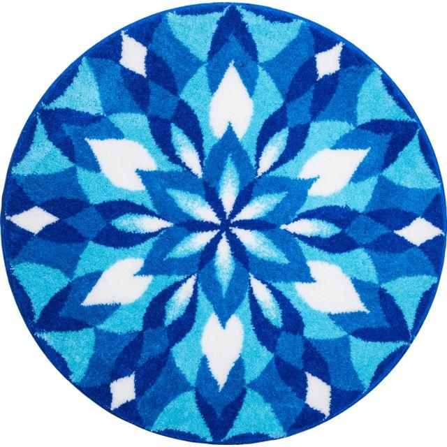 esh equipement tapis de salle de bain wings of joy bleu rond 100 cm 100cm x 100cm pas cher. Black Bedroom Furniture Sets. Home Design Ideas