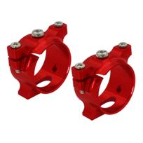 RAKONHELI - Support de tube carbone alu rouge Pod 250 - Rakon Heli